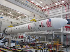 Antares Lifted for Roll Out (Orbital Sciences) Tags: mars orbital antares wallops