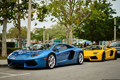 Duo. (Matthew C. Photography) Tags: blue italy black car 35mm silver photography italian nikon allen matthew c duo air rally wheels azure fast celebration exotic wong f18 lamborghini app weee apps aerodynamic 2013 d3200 aventador lp700 regoapps