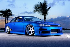 DSC_9413 (DieguitoMC) Tags: street blue sunset white car race work amazing nikon nissan bees alien wheels racing seats smurf rolling drift 240sx sparco 240 d800 equip exo alienbees