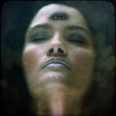 3rd eye (arrowlili) Tags: portrait selfportrait comic spirit magic textures 365 senses intuition selfie odc 3rdeye psycic totw bokehthursday despero clarvoyance