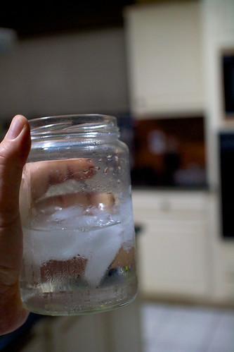 Ice Water in a Jar