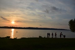 Swimming in breakdown. (FOTO.Michaela) Tags: sundown sky water people person nikon d5300 2016 july czech a camp camping swimming swim family