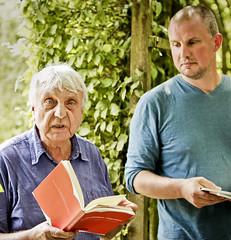 Ralf Thenior en Tsead Bruinja in de loofgangen