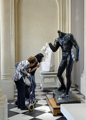 Engaged by a Rodin sculpture - Musee Rodin (Monceau) Tags: older woman walker handicapped young friend museum visitors muserodin rodin sculpture engaged foreveryoung odc paris