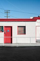 MEN (autobahn66.com) Tags: urban geometry city restroom men contrast shadow minimalist minimalsim morning red