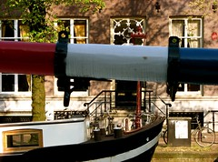 as Dutch as it gets (Szymek S.) Tags: boat vessel barge houseboat bicycles canal gracht city amsterdam holland netherlands nederland