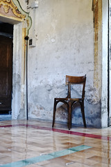 The guardian (S. Hemiolia) Tags: novellara chair sedia waiting attesa sacrestia sagrestia church chiesa sacred