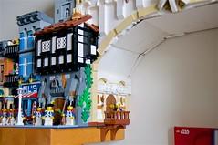 Great Chasm (mcmorran) Tags: lego bridge constantinebridge modularbuildings tudor balcony