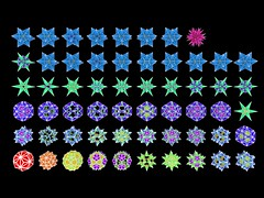 IcosahedronStellationColor (powerofankur) Tags: mathematics geometry polyhedron stellation 3d sunflow matlab icosahedron