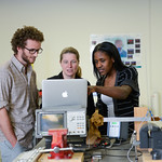 Math students and faculty in the Cardiovascular Dynamics Group lab