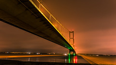 Night Shots Of the Humber Bridge (Lee Butler) Tags: boats bridge hull humber humberbridge river road sea