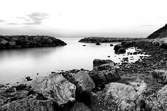 Arising (Mario Ottaviani Photography) Tags: sony sonyalpha sea seascape dawn alba italy italia paesaggio landscape travel adventure nature scenic exploration view vista breathtaking tranquil tranquility serene serenity calm walking arise rise black white bianco nero biancoenero blackandwhite