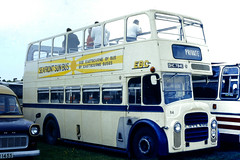Slide 077-43 (Steve Guess) Tags: open top topper topless bus eastbourne leyland titan dhc784e epsom downs derby day surrey england gb uk racecourse