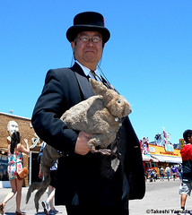 Dr. Takeshi Yamada and Seara (Coney Island Sea Rabbit) at the Coney Island Beach in Brooklyn, New York on June 9, 2016. 20160609Thu DSCN6467=0020C, Coney Island Beach (searabbits23) Tags: searabbit seara takeshiyamada  taxidermy roguetaxidermy mart strange cryptozoology uma ufo esp curiosities oddities globalwarming climategate dragon mermaid unicorn art artist alchemy entertainer performer famous sexy playboy bikini fashion vogue goth gothic vampire steampunk barrackobama billclinton billgates sideshow freakshow star king pop god angel celebrity genius amc immortalized tv immortalizer japanese asian mardigras tophat google yahoo bing aol cnn coneyisland brooklyn newyork leonardodavinci damienhirst jeffkoons takashimurakami vangogh pablopicasso salvadordali waltdisney donaldtrump hillaryclinton endangeredspecies save