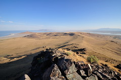 Looking north from Dooley Knob (Great Salt Lake Images) Tags: summer hike dooleyknob antelopeisland greatsaltlake utah