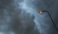 Rain Clouds over Olney (dawsonimages) Tags: olney buckinghamshire weather rain clouds storm wet streetlamp menacing