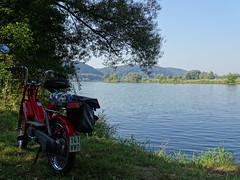 on tour (markus_rgb) Tags: tour reise moped mofa motorrad motorcycle flus river wasser water donau piaggio bravo