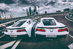 Left or Right  (avaim) Tags: stingray corvette z06 moscow city    supercars white sky no limit left or right avaim  classy luxury luxurylifestyle
