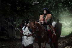 in the glade (dim.pagiantzas | photography) Tags: films movies cinema cinematic art cine entertainment actors historical history period old men people glade forest nature trees weapons musketry officer turks exodos exit atmospheric squad army troops battle canon