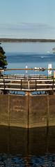 Borenshult Water Locks Vertical Panorama (JohanKampe) Tags: boren borenshult borensjn lake lock locks motala outdoors outside panorama pier pir sj sluss slussar sverige sweden theborenlake utomhus vatten water