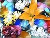 Susan's BD flowers (AngelVibeDigital) Tags: lilies digitalart lily paintedflowers art blossom