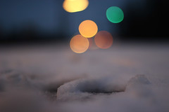 (IcarusBlue) Tags: snow lights darkness bokeh iso400 mm f18 50 plasticfantasticlens