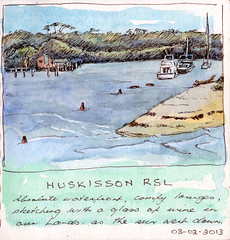 Husky RSL again (quirkyartist) Tags: watercolour huskisson underpainting lamysafari huskissonrsl