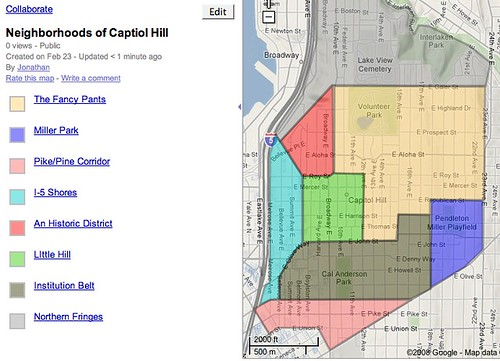 Capitol Hill Seattle Map CHS Capitol Hill Neighborhood Map | CHS Capitol Hill Seattle