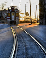 Into The Light (Theresa*) Tags: street electric track oneofakind indiana trains southshore 11thstreet michigancity ilovetrains trainphotography prettyfreakinsweet nikond7000 postthebest onlythebestarememoriesthroughphotography