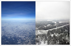 Before and After (paulmcdee) Tags: uk travel blue trees england sky snow london tourism oslo norway clouds plane canon airplane airport off tourist aeroplane powershot landing take gatwick gardermoen ascent ascending s100 5photosaday topqualityimagesonly