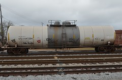 RAIL KING on UTLX 647264 20130112 Meridian MS (rmccallay) Tags: graffiti crown tankcar utlx railking