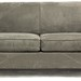 201. Contemporary Microsuede Loveseat