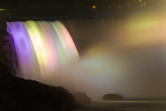 Dream in Colour (Fesapo) Tags: longexposure mist ontario canada color colour nature colors beautiful night canon lights niagarafalls waterfall timelapse colorful colours bright niagara 7d colourful magical