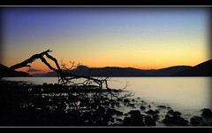 Loch Ness at Night (Inverness-Andrew) Tags: uk sunset water landscape scotland highlands rocks loch lochs