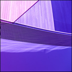 The colour purple (Maerten Prins) Tags: shadow panorama sunlight color colour glass lines museum denmark rainbow purple aros curve eliasson olafur arhus cirves