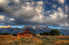 Mormon Row Morning (Tom Lussier Photography) Tags: usa mountain tree clouds barn sunrise landscape nationalpark nikon bravo rockymountain rockymountains wyoming grandtetonnationalpark mormonrow moultonbarns grandtetonnationalparkwyoming tomlussier