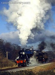 M018-00056 (railphotolibrary.com) Tags: santa two england countryside europe smoke railway double steam special valley locomotive worth preserved headed 280 lms kwvr uk1 8431 8fc