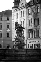 Hercules slays Hydra (haz_fenrir15) Tags: b white black statue canon republic czech w f2 60mm baroque tamron hydra hercules namesti horni slays 60d
