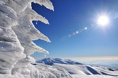 Botev peak (.:: Maya ::.) Tags: winter sun mountain snow nature 1 frost peak bulgaria      botev