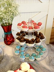 "cake table with cakeballs and cupcakes • <a style=""font-size:0.8em;"" href=""http://www.flickr.com/photos/60584691@N02/8546689043/"" target=""_blank"">View on Flickr</a>"