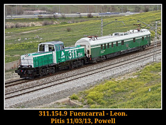 Empezando bien la semana (Powell 333) Tags: espaa tractor train canon tren trenes eos spain rail railway trains coche 7d powell 311 mtm railways 154 1001 mabi ferrocarril renfe enlace maniobras adif ffcc enlaces catenaria pitis e1001 eos7d canoneos7d 311154 auscultador auscultadordecatenaria tractordemaniobras auscultadorcatenaria tractormaniobras