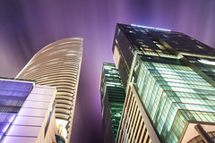 PURPLE NIGHT (Rober1000x) Tags: longexposure architecture modern night clouds lights downtown florida miami wellsfargo epic 2013