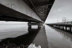 San Mateo Bridge (f.ramirez01) Tags: california bridge white black bay san francisco area peninsula mateo