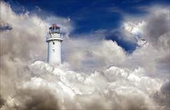 Accidental state of mind (Frank ) Tags: lighthouse topf25 clouds topf50 topf75 europe heaven fudge topf300 topf100 stateofmind topf250 topf200 topf400 profoto skybluesky mygearandme watmooi mrtungsten62 frankvandongen