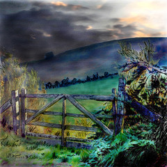 dorset gate (Bill Sargent) Tags: summer england painterly art digital rural photomanipulation photoshop manipulated painting studio photography photo image drawing farm country digitalart scenic olympus digitalpainting photograph dorset imagemanipulation sargent coldbrook manipulatedimage painter12 coldbrookstudio