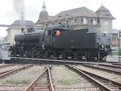 150 ans Lausanne-Bern (v8dub) Tags: train eisenbahn zug sbb lausanne locomotive bern fribourg bahn dampflok lokomotive drehscheibe cff sonderzug vapeur dampfzug sbbhistoric locomotiveàvapeur c56 stoomloc