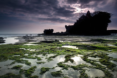 Tanah Lot, Bali, Indonesia (nancian) Tags: ocean sunset sea bali green beach water rock canon indonesia atardecer temple mar rocks asia long exposure lot sigma playa le nd filters templo density tanah neutral degraded