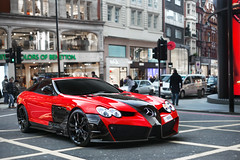 Renovatio. (Alex Penfold) Tags: red slr london 50mm mercedes benz arabic arab mclaren 18 qatar mansory renovatio 80808