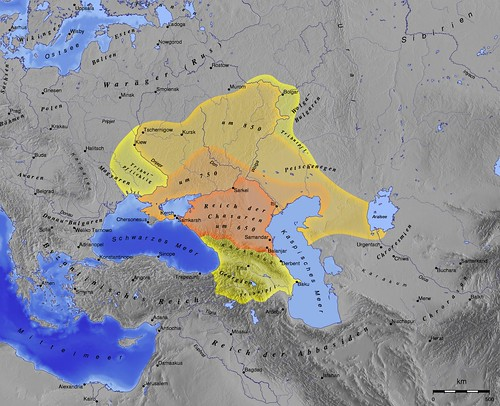 Khazaria. Khzar. Kzar. Chasaren. Circassian. Caucasia, Black Sea Areas. Scythian. The Western Khans
