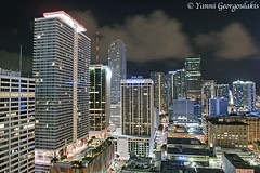 Downtown Miami at Night (Yankis) Tags: city sky skyline night clouds marriott jw photography lights nikon long exposure downtown cityscape photographer florida miami south architectural f28 d3 brickell freelance yanni 2470mm 2470 georgoulakis